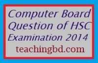 Chemistry Board Question of HSC Examination 2014