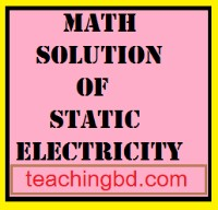 Math Solulion of Static Electricity