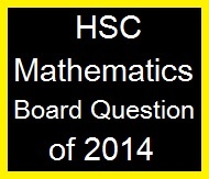 Mathematics Board Question of 2014
