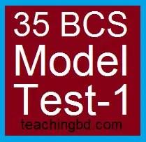 35 BCS Model Test-1
