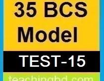 35 BCS Model Test-15