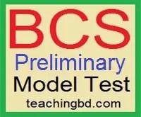 36 BCS Preliminary Model test