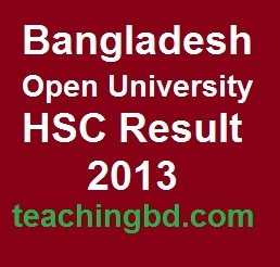 Bangladesh Open University HSC Result 2013 Published 1