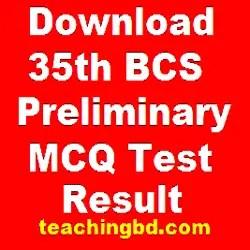 Download 35th BCS Preliminary (MCQ Test) Result 1