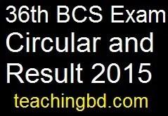 36th BCS Exam Circular and Result 2015 5