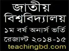 National University Honours Admission Result 2015-16 NU.edu.bd 1