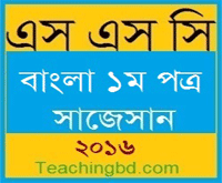 Bengali 1st Paper Suggestion and Question Patterns of SSC Examination 2016