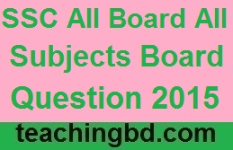 SSC EV All Board All Subjects Board Question 2015