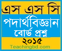 Physics Question 2015 Dinajpur Board