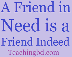 Story: A Friend in Need is a Friend Indeed 3