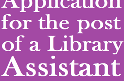 Application for the post of a Library Assistant