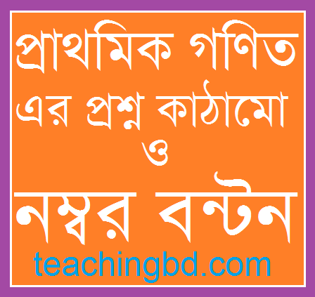 NAPE Approved Question Structure & Marks Distribution of Elementary Mathematics 10