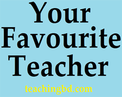 Write A Paragraph: Your Favorite Teacher