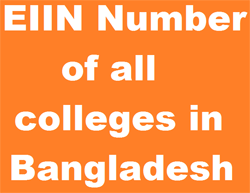 EIIN Number of all colleges in Bangladesh 1