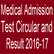 Medical Admission Test Circular and Result 2016-17 19
