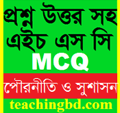 Important information for all Chapter: Civics and Good Governance 1st MCQ Question With Answer