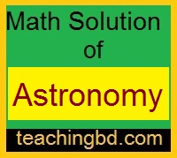 Math Solution of Astronomy 1