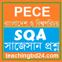 PECE Bangladesh and Bisho Porichoy short questions answer Suggestion 2018