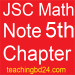 JSC Math Note 5th Chapter Algebraic fraction
