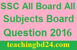 SSC All Board BV All Subjects Board Question 2016 1