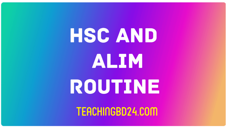 HSC Routine 2019 Download all Education Board 1