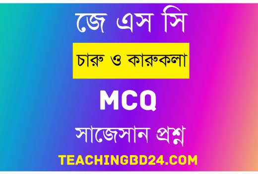 JSC Arts and Crafts MCQ Question With Answer 2020 12