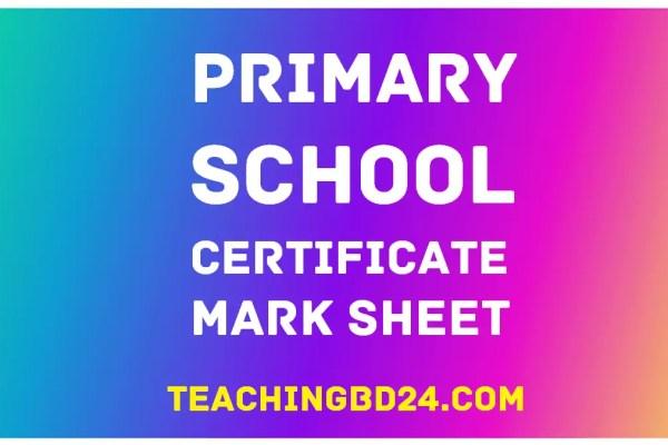 Primary School Certificate Mark Sheet 2019 31