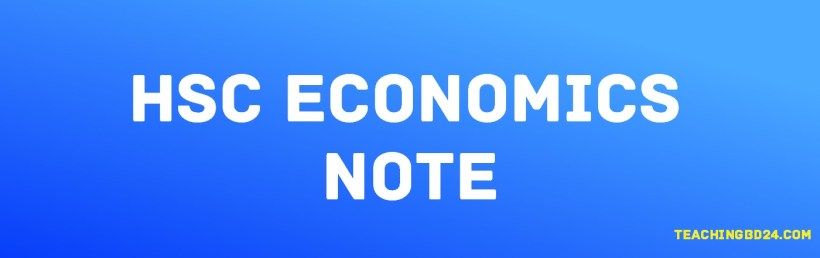 HSC Economics 1st Paper 4th Chapter Note. Market 1