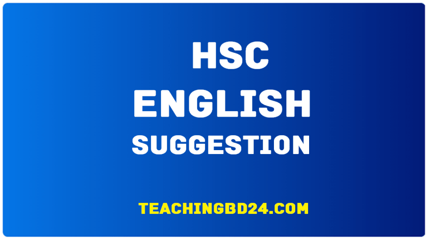 HSC English 1 Suggestion and Question Patterns 2020-6