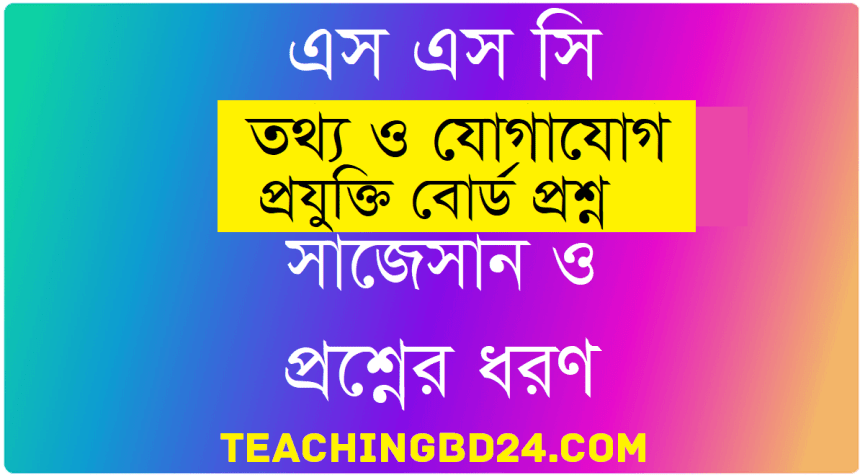 SSC ICT Question 2019 Jashore Board