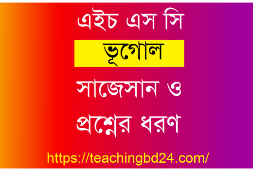 HSC Geography 2nd Paper Suggestion and Question Patterns 2020-6 7