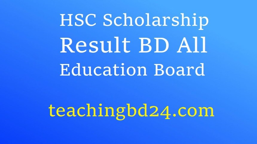 HSC Scholarship Result BD All Education Board