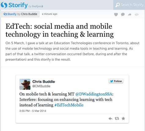 Storify on EdTechMobile