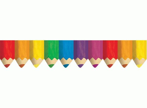 Jumbo Coloured Pencils Classroom Display Border
