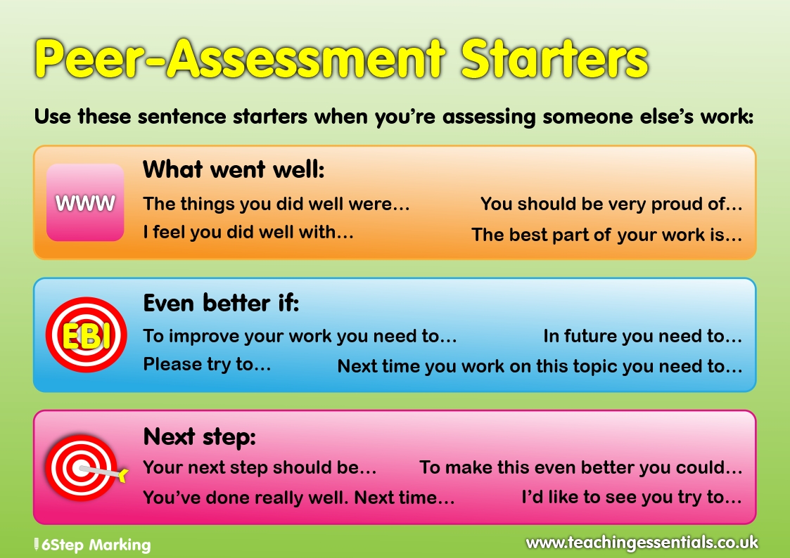 Positive Peer Assessment
