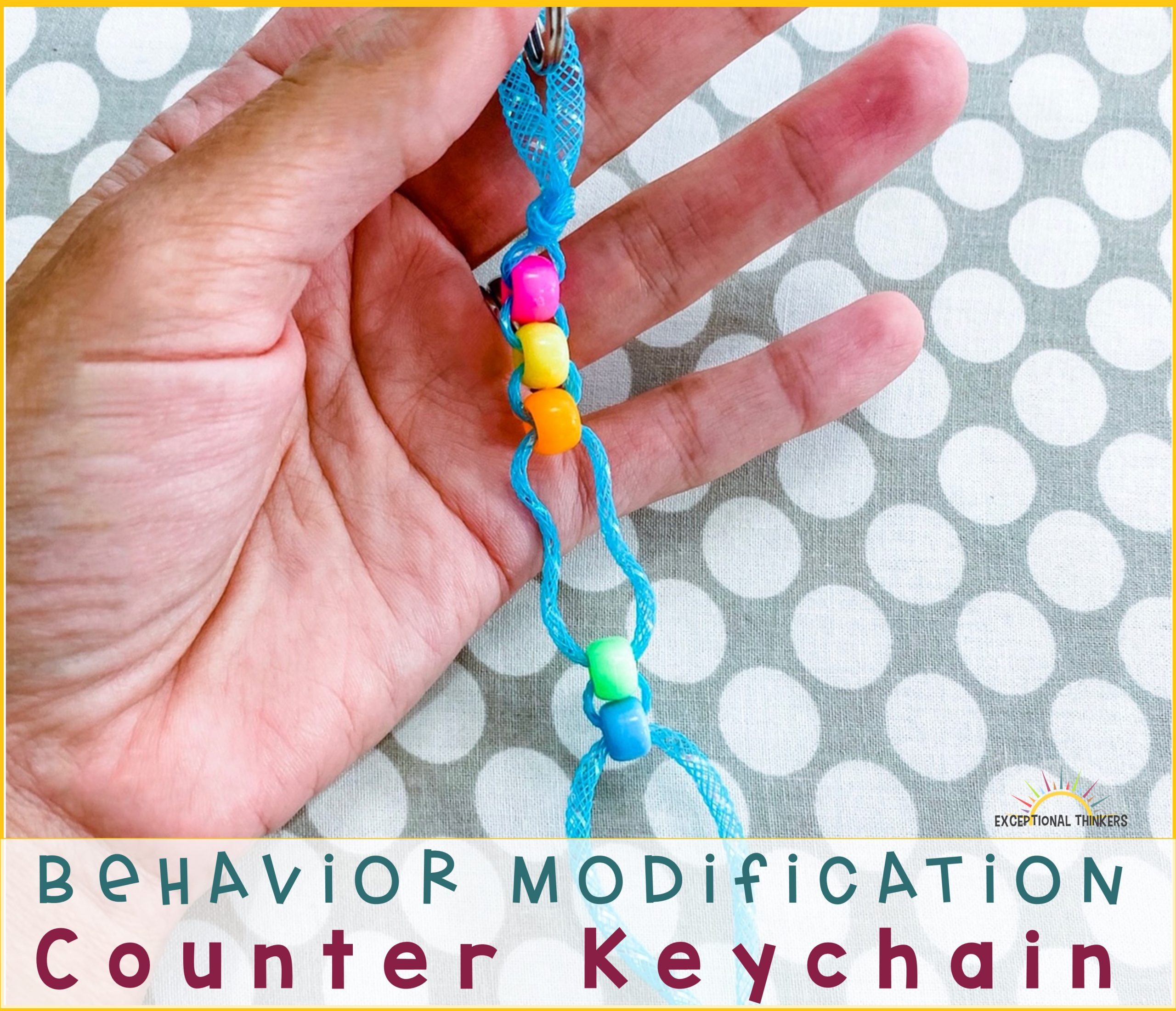 How to Make a Counter Keychain for Behavior Management