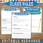 Class rules resource for behavior management