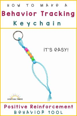 How to make a behavior management keychain: Positive reinforcement behavior tool