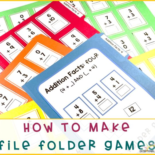 How to Make a File Folder Game