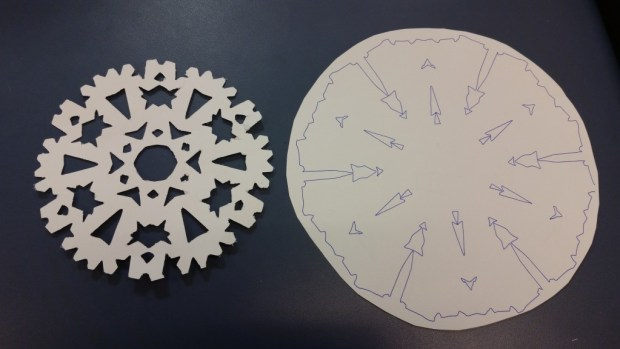 Silhouette printer snowflake example