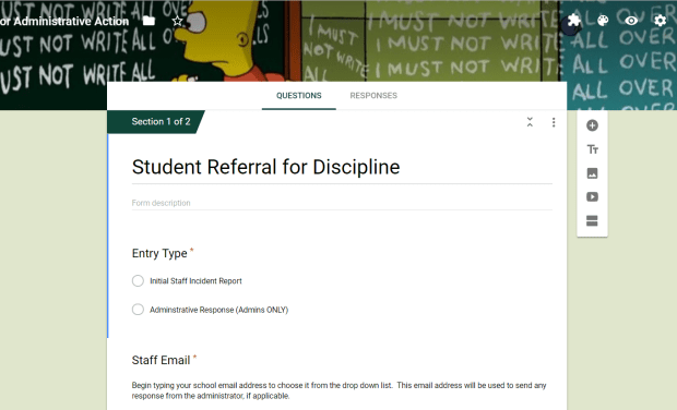 Automated Discipline Referrals with Google Forms | Teaching