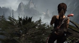 Tomb Raider - Lara Croft surveying the land
