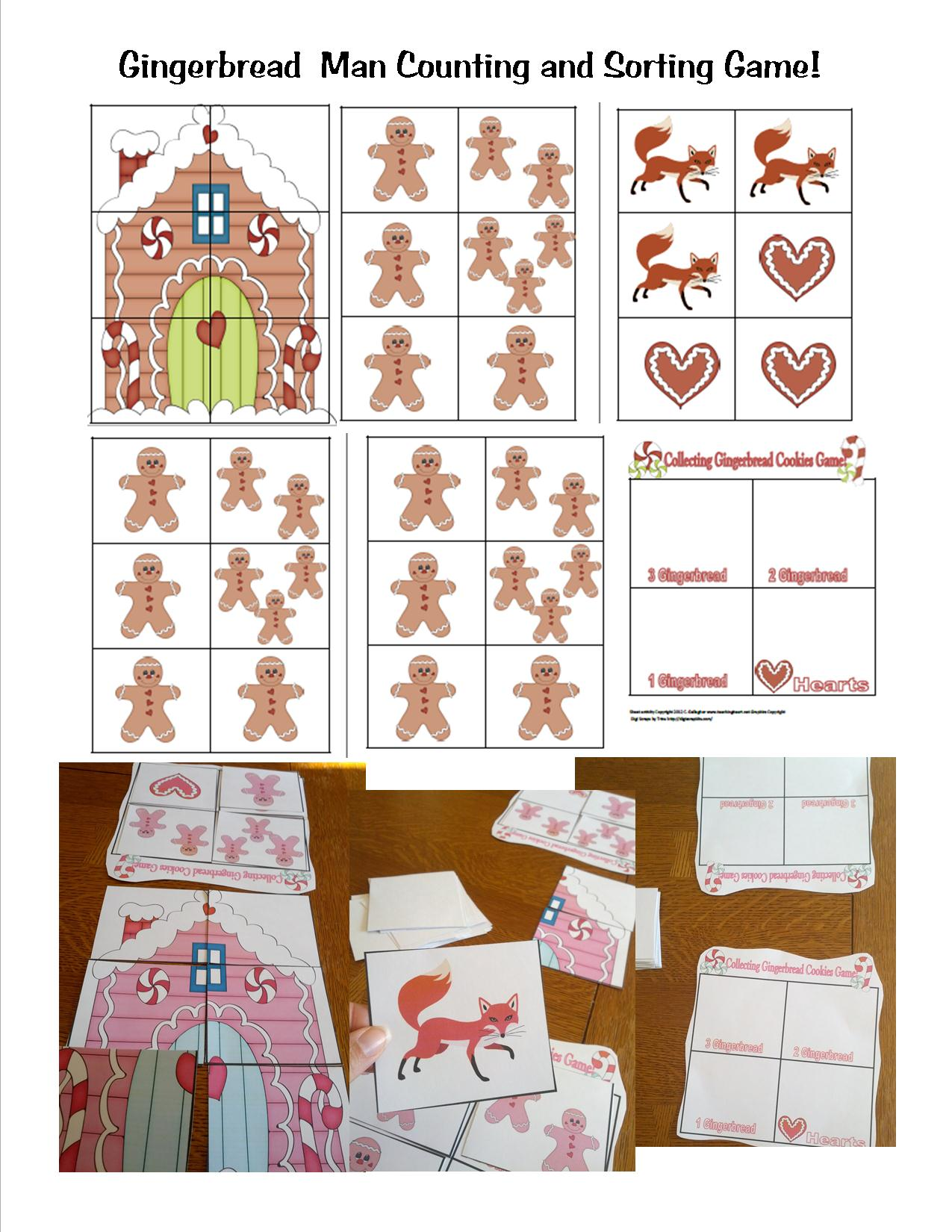 Gingerbread Counting Game Teaching Heart Blog