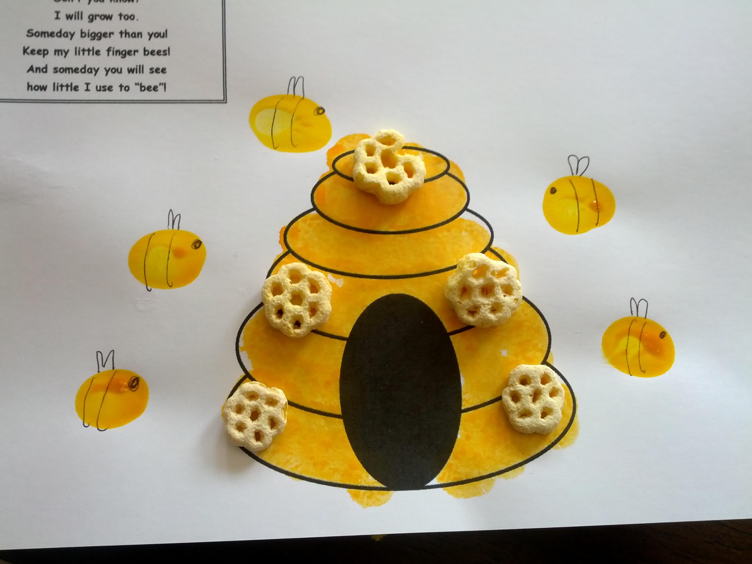 Bee Fingerprint Craft Teaching Heart Blog