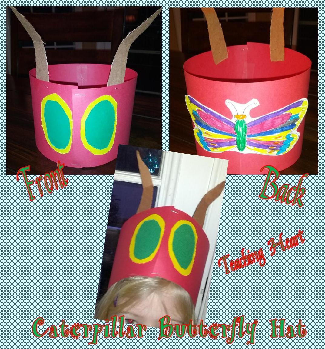Caterpillar Butterfly Hat Teaching Heart Blog