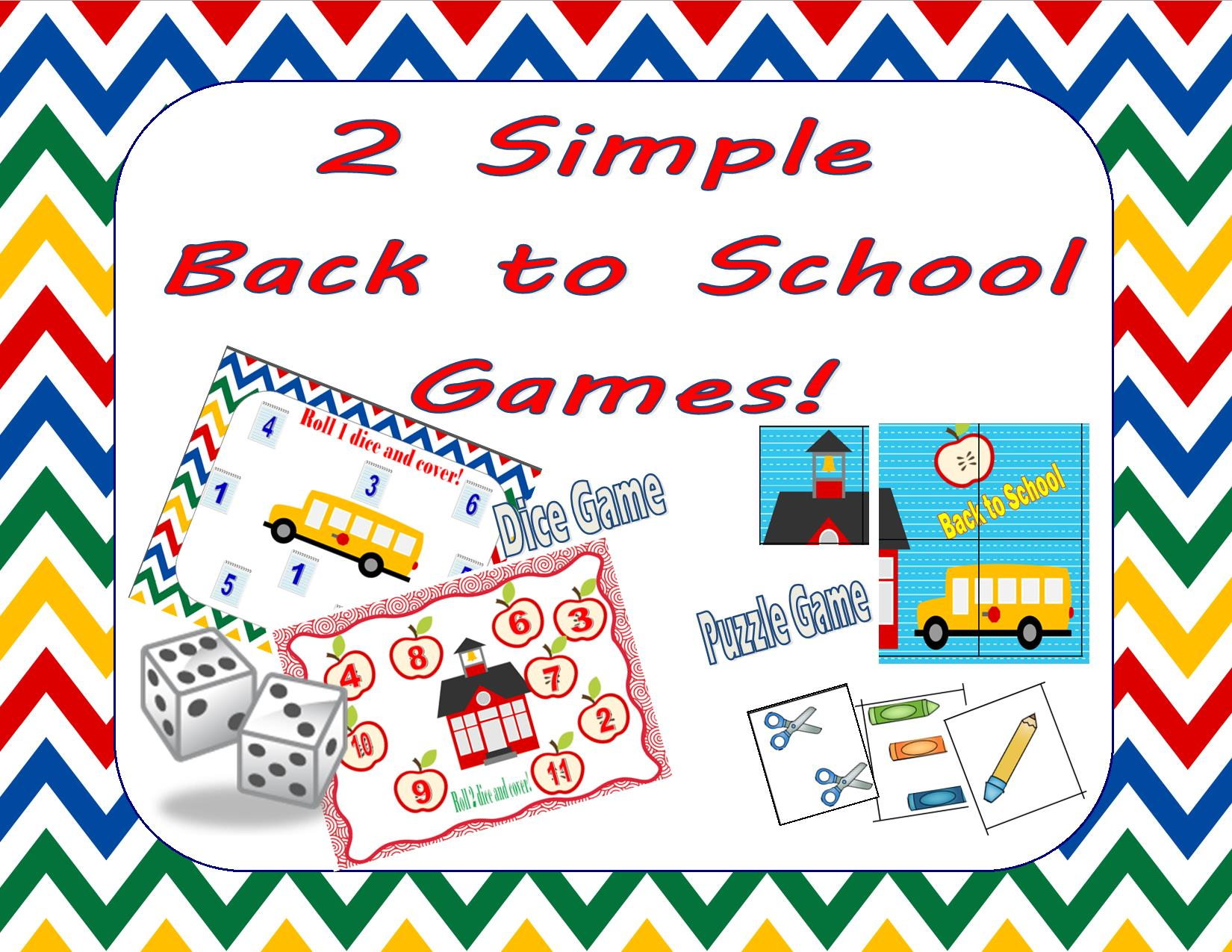 Back To School Worksheets And Simple Games