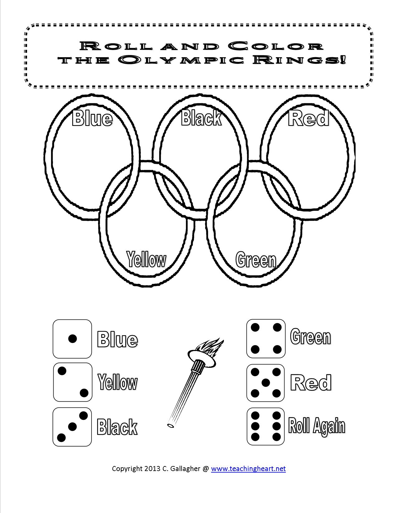 Olympics Dice Game And More Free Teaching Heart Blog