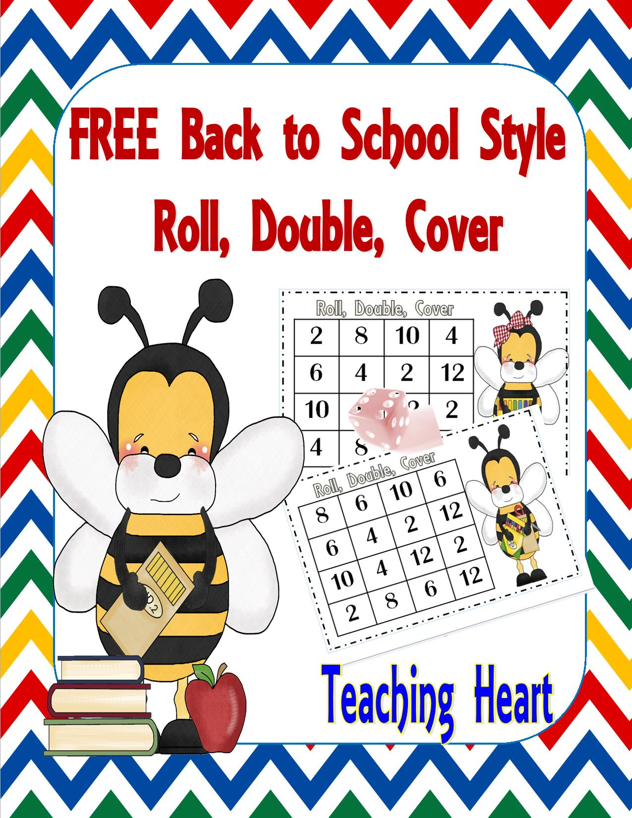 Free Bee Doubles Roll And Cover Teaching Heart Blog