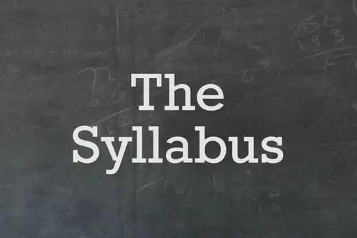syllabus for teaching in a korean university