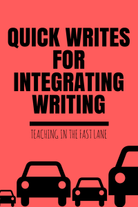 Are you looking for a way to integrate writing? Look no further than quick writes! They are the best way to include writing in any content area when you are limited on time.